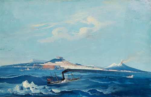 Lot 10 - NEAPOLITAN SCHOOL, CIRCA 1850<br/>English paddle...