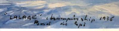 "Lot 27 - δ GUY L'HOSTIS (FRENCH, 1945- )<br/>""VELSHEDA"" et..."
