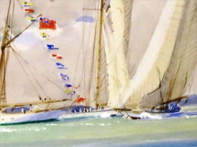 "Lot 28 - δ GUY L'HOSTIS (FRENCH, 1945- )<br/>""NORADA"",..."