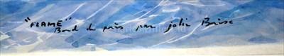 "Lot 33 - δ GUY L'HOSTIS (FRENCH, 1945- )<br/>""FLAME"" Bord..."