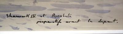Lot 37 - δ GUY L'HOSTIS (FRENCH, 1945- )<br/>Shamrock IV et...
