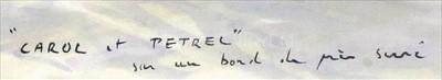 "Lot 39 - δ GUY L'HOSTIS (FRENCH, 1945- )<br/>""CAROL et..."