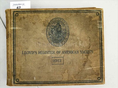 Lot 67 - LLOYD'S REGISTER OF AMERICAN YACHTS nineteen...