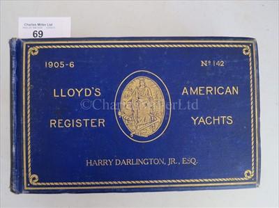 Lot 69 - LLOYD'S REGISTER OF AMERICAN YACHTS seventeen...
