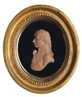 Lot 81 - A WAX RELIEF PORTRAIT OF NELSON BY CATHERINE...