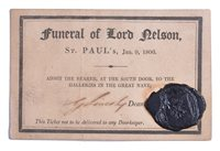 Lot 97 - A TICKET TO LORD NELSON'S FUNERAL IN ST....
