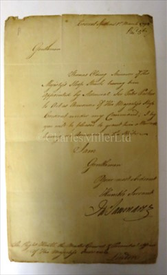 Lot 123 - THREE FAMOUS NAVAL AUTOGRAPHS<br/>for Cuthbert...