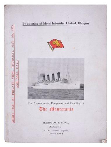 Lot 173 - A RARE COPY OF THE R.M.S. MAURETANIA BREAKERS...