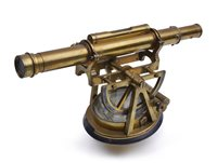Lot 329 - A BRASS THEODOLITE BY THOMAS RUBERGALL,...