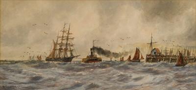 Lot 1 - WALTER CANNON (BRITISH, C.1900)<br/>A merchantman...
