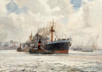 Lot 10 - ARTHUR J.W. BURGESS (1879-1957)<br/>Out into the...