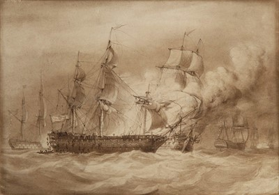 Lot 27 - ATTRIBUTED TO NICHOLAS POCOCK (1740-1821)<br/>Sir...