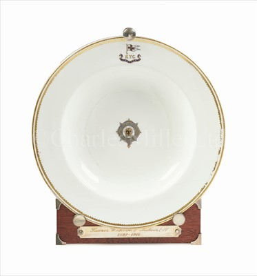 Lot 36 - A BERLIN SOUP-PLATE FROM THE IMPERIAL GERMAN...