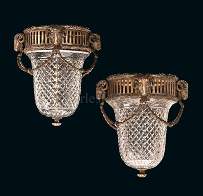Lot 199 - A PAIR OF DECKHEAD LAMPS FROM THE FIRST CLASS...