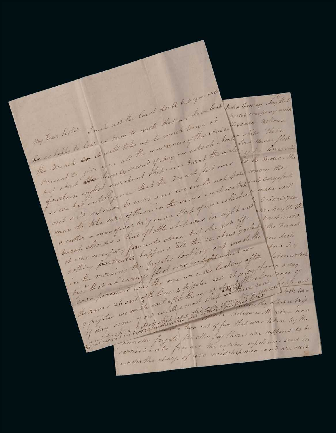 Lot 99 - THE GLORIOUS FIRST OF JUNE, 1794: A FIRST HAND...
