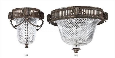 Lot 128 - R.M.S MAURETANIA (1906): A SMALL CUT-GLASS...