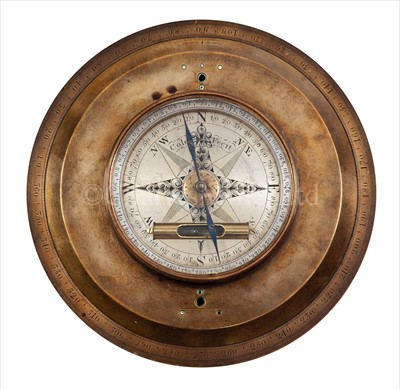 Lot 208 - AN 18TH-CENTURY THEODOLITE COMPASS MOUNT BY...