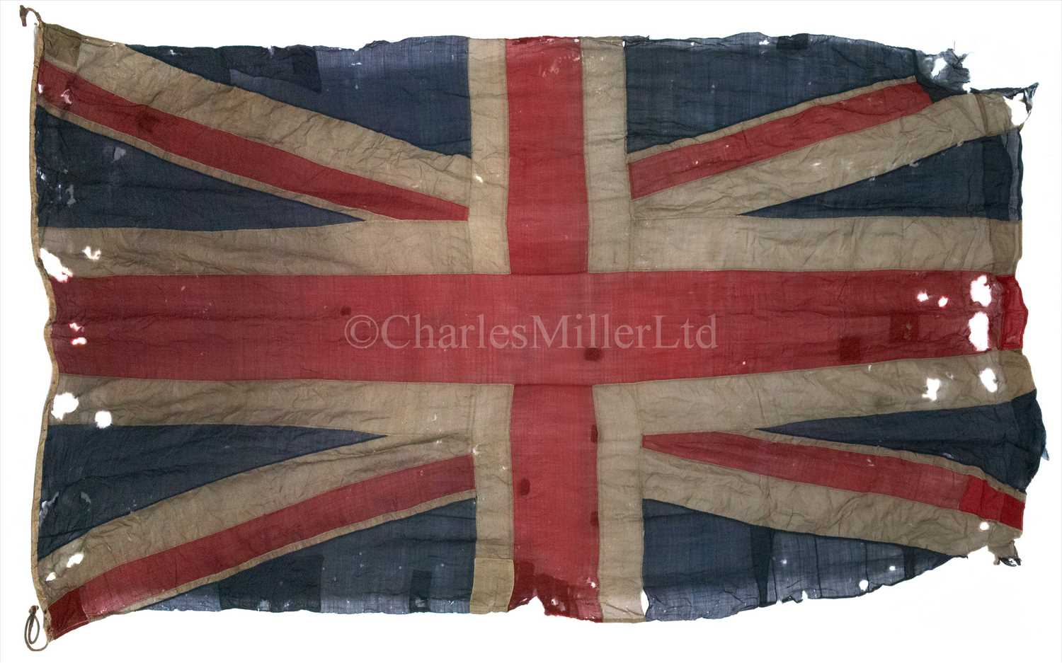 Lot 80 - AN EARLY 19TH-CENTURY NAVAL UNION FLAG,...