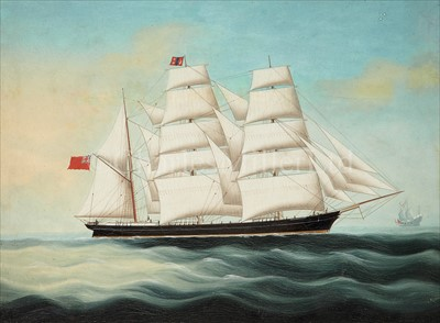 Lot 16 - CHINESE SCHOOL (19TH-CENTURY)<br/>The barquentine...