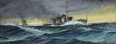 Lot 19 - GEORGE HORACE DAVIS (1881-1963) <br/>A destroyer...
