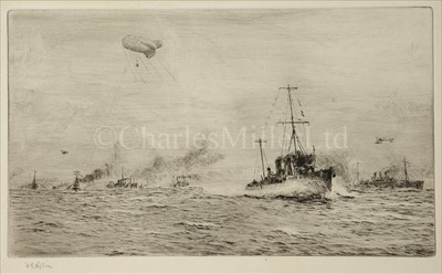 Lot 22 - W.L. WYLLIE (1851-1931)<br/>Royal Naval manoeuvres...