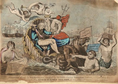 Lot 37 - 'NEPTUNE DRAWN BY SEA HORSES, AND PRECEDED BY...