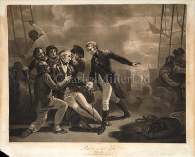 Lot 38 - 'BATTLE OF THE NILE. AUG: 1. 1798'<br/>published...