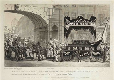 Lot 43 - AN EARLY 19TH CENTURY PRINT OF NELSON'S...