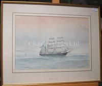 Lot 7 - δ ERIC TUFNELL (BRITISH, 1888-1978): 'Flying Cloud' 1851; 'Vermont' U.S. clipper bark; 'Sea Witch'; 'Surprise'; 'Flying Eagle'