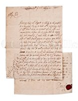 Lot 20 - PEREGRINE OSBORNE, EARL OF DANBY, REAR ADMIRAL OF THE RED: TWO MANUSCRIPTS