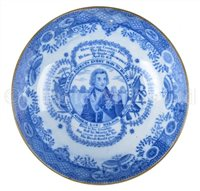 Lot 35 - AN EARLY 19TH-CENTURY COMMEMORATIVE BLUE AND...