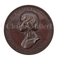 Lot 40 - A COMMEMORATIVE MEDALLION FOR THE DEATH OF...